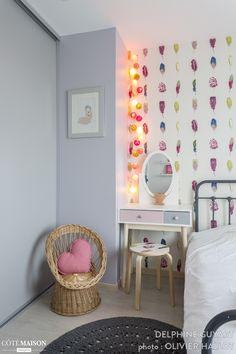 Une chambre rose pour une petite fille très girly, Delphine Guyart - Côté Maison