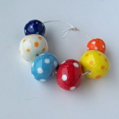 Handmade ceramic beads from South Africa by EarthbutterStudio, $12.75