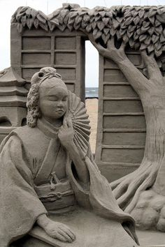 """Zen Garden"" - Virginia Beach Neptune festival 2009, Sand Sculpting competition"