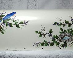 Hand Painted Mailbox with Bluebird and Berries - Edit Listing - Etsy