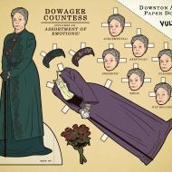 Some Downton Abbey paper dolls