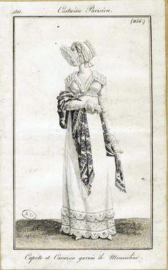 Costume Parisien, 1811, From the Bibliothèque des Arts Décoratifs via SceneInThePast flickr. plate 1156