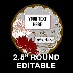 Marsh EDITABLE ROUND STICKER 2.5 Inches    Soap by OntheDownlowd