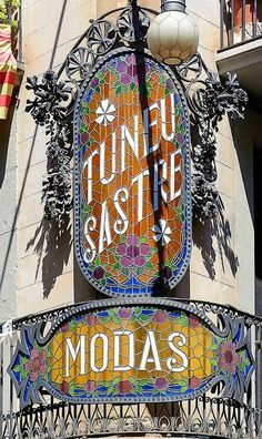 Modernisme. Sastreria Tuneu, Manresa, Spain. photo: Arnim Schulz