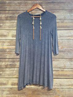 """Denim Inspired Cotton Dress"" #vintagefashion #farmerjohns #farmerjohnsboutique #theboutiqueatfarmerjohns #womensfashion #trendy"