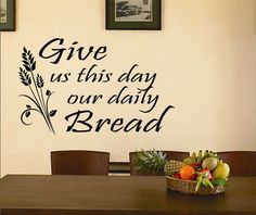 Vinyl Wall Lettering Religious Daily Bread Quotes Decals