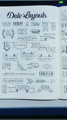 Date layout doodle Date layout doodle
