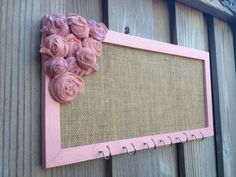 Jewelry Organizer Jewelry Holder Hanging Display Shabby Chic Pink Little Girl hair Holder on Etsy, $40.00