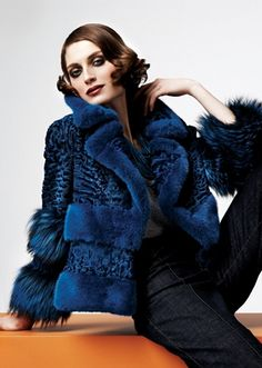 Mink, Lamb & Fox Fur Jacket
