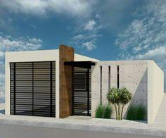 Bungalow House Design, House Front Design, Modern House Design, Narrow Lot House Plans, Garage House Plans, Home Building Design, Home Room Design, Mexico House, Gate Design