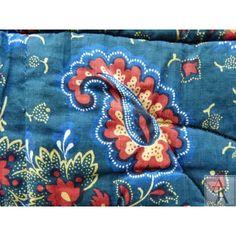 Petite couverture, indiennes époque XVIIIe indigo