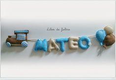 """""""""""Lilos de fieltro"""""""": Nombres Decorativos"""