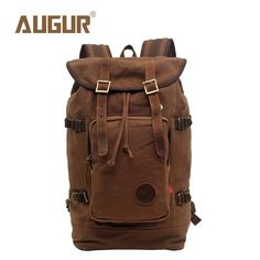 a8e914c660 AUGUR Brand New Fashion Backpack Women Mens Designer Backpack Retro Canvas  Leisure Laptop Backpack Men Shoulder Bag HT100277