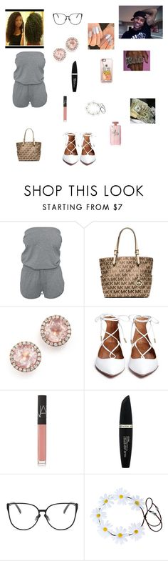 """Trey Songs Pt.2"" by queenraina1 on Polyvore featuring Michael Kors, Dana Rebecca Designs, NARS Cosmetics, Max Factor and Casetify"