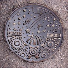 Art in the sewer:  Shimane Prefecture in the south west of Honshu  Image credit: Japan Visitor http://japanvisitor.blogspot.pt/2008/01/more-japanese-manhole-covers.html)