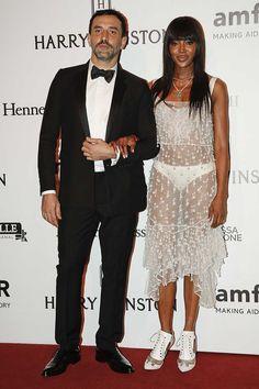 Ricardo Tisci y Naomi Campbell