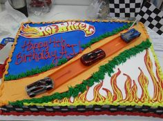 Hot Wheels cake for A.J.