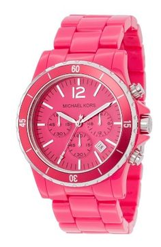 HOT PINK Michael Kors watch - I have this and love it!