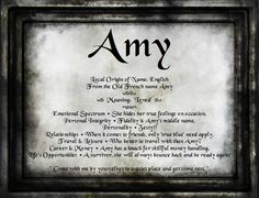 Amy - Name Meaning And Analysis Amy Name, French Names, Name Wallpaper, My Motto, Women Names, True Feelings, Names With Meaning, Thats The Way, Always Remember
