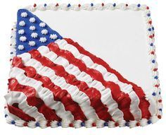 Flag Cake #julyfourth: Fourth Of July Cakes, 4th Of July Desserts, 4th Of July Party, Easy Cake Designs, Sheet Cake Designs, America Cake, Specialty Cakes, Creme, Patriotic Cupcakes