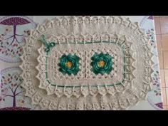 Tapetes de crochê - por Lurdes Paes - YouTube