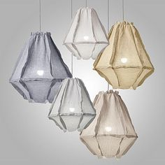 Cumulus Linen Pendant Light, Small