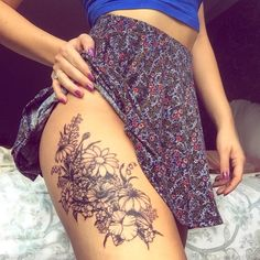 wild flower tattoo designs - Google Search
