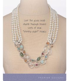 "Premier Designs Jewelry by Julie Tussey ""Opening Night"" Pearls with one strand from ""Sugar Rush"""