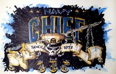 Military Series:  Time Lapse Drawing of an Edgy Design for a U.S. Navy Chief Petty Officer (CPO).