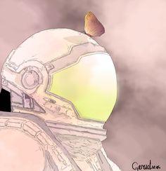 Ilustração Astronauta | illustration Astronaut  Digital painting | pintura digital | art | create | creating | inspiration | ideas
