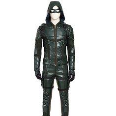 Men's Green Arrow Season 5 Oliver Queen Cosplay Suit Set