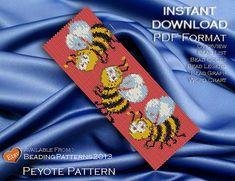 SALE 15% OFF - Peyote Pattern Bracelet Cuff Beading Miyuki Delica Size 11 Beads - PDF Download - Busy Bee
