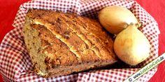 Lebe Low Carb - Low Carb Rezept für ein herzhaftes Zwiebelbrot mit Kokosmehl und Mandelmehl gebacken. Schmeckt wunderbar, auch nur mit Butter ...