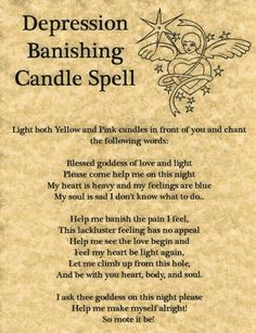 Depression Banishing Candle Spell.