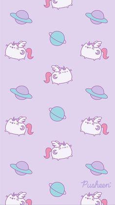 Pink Wallpaper Iphone, Cat Wallpaper, Kawaii Wallpaper, Aesthetic Iphone Wallpaper, Phone Wallpapers, Gato Pusheen, Pusheen Love, Pretty Wallpapers, Cute Cartoon Wallpapers