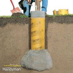 Dig and pour your deck footings so they extend below the frost line. That way, they won't move, or heave, as the ground freezes and thaws during seasonal changes. This article explains how to build solid footings that will stay put year-round.
