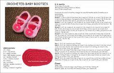 Hünerlerimiz: Crocheted Baby Booties Tutorial - Tığ İşi Bebek Patiği Yapılışı
