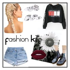 """""""Fashion Killa"""" by klarabahnik ❤ liked on Polyvore featuring Levi's, Dr. Martens and WithChic"""