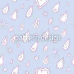 Hochqualitative Vektor-Muster auf patterndesigns.com - Blauer-Sommerregen, designed by Christina Wasenegger