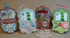 Four gift card holders are next for my Holiday Workshop preview. This annual workshop is December 4th, from noon to six p.m. So if you're in...