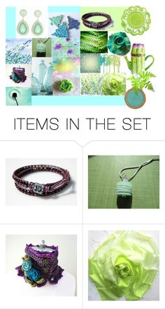 """""""Mints & Pastels"""" by crystalglowdesign ❤ liked on Polyvore featuring art"""