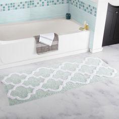 Windsor Home 100% Cotton Trellis Bathroom Runner - 24x60 inches