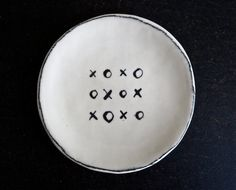 Rae Dunn is the artist behind Rae Dunn Clay in Berkeley, CA - fine handmade pottery that is sold nationwide. Ring Dish, How To Draw Hands, Porcelain, Plates, Ceramics, Tableware, Diy Stuff, Kisses, Etsy