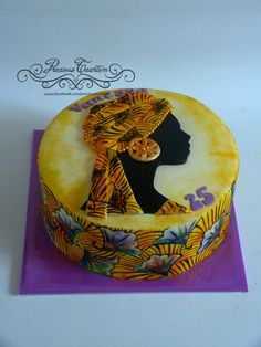 Hand painted african cake