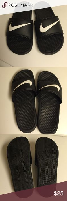 Nike Slides - Nike Slides Sz 7m Men can be for women too. These were only wore like 3/4 times. Great Slides and so comfortable. Priced at lowest being these are pretty much new . Thanks Nike Shoes Sandals