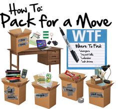moving tips how to pack up your entire house in 2 weeks organizing the home pinterest. Black Bedroom Furniture Sets. Home Design Ideas