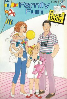 Family Fun Vintage Paper Dolls Book C1989 by thecollectiblechest
