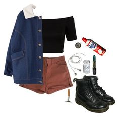 """""""midnight"""" by unwriteable ❤ liked on Polyvore featuring American Apparel, Miss Selfridge, Dr. Martens, Vita and Advantus"""