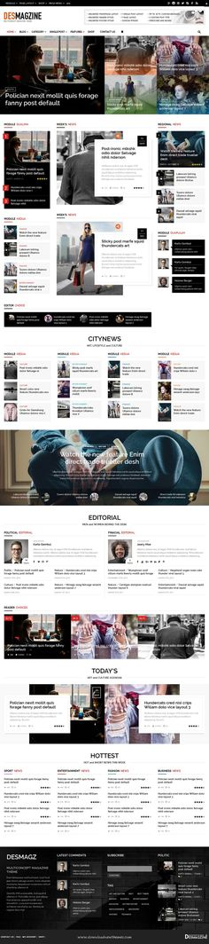DesMagz is wonderful WordPress Multiconcept Newspaper, blog or Magazine Theme Download now.