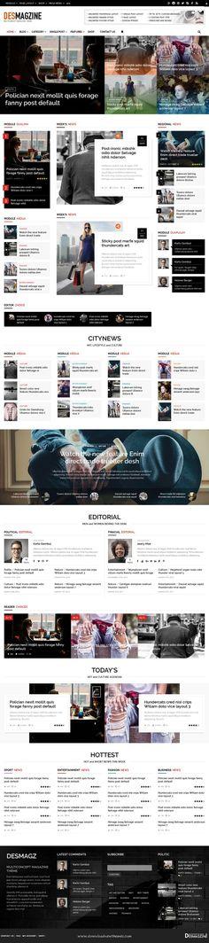 Newsroom – A Contemporary Multipurpose Newspaper / Magazine Theme ...